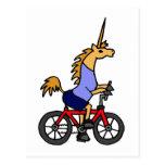 XX dibujo animado de la bicicleta del montar a Postal
