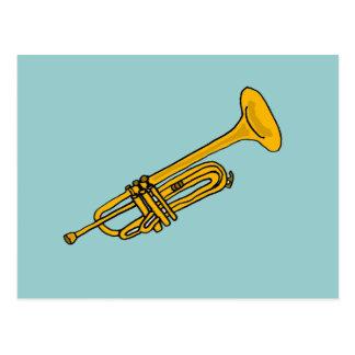 XX dibujo animado de la trompeta de la diversión Postal