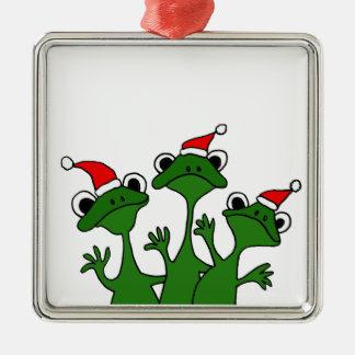 XX dibujo animado de las ranas de árbol de navidad Ornamento De Navidad