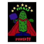 XX dibujo animado de Pickleball del super héroe de Felicitaciones