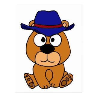 XX dibujo animado del gorra de vaquero del oso de Postales