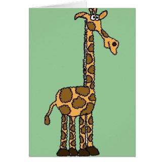 XX dibujo animado divertido de la jirafa Felicitación