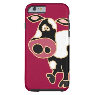 XX dibujo animado divertido de la vaca Funda De iPhone 6 Tough