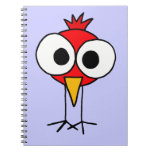 XX dibujo animado divertido de Redbird Libro De Apuntes