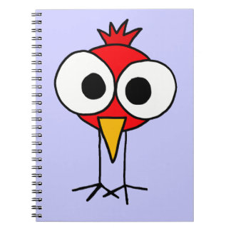 XX dibujo animado divertido de Redbird Spiral Notebook