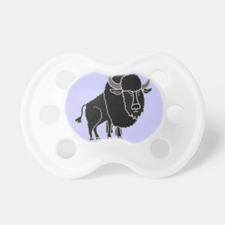 XX dibujo animado divertido del búfalo Chupete De Bebe