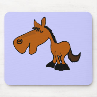XX dibujo animado divertido del caballo Tapete De Raton