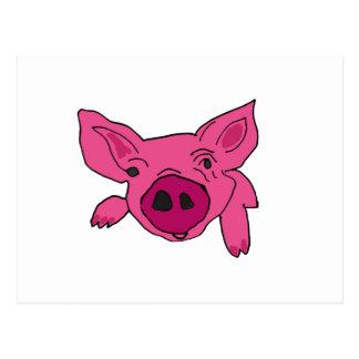 XX dibujo animado divertido del cerdo Tarjetas Postales