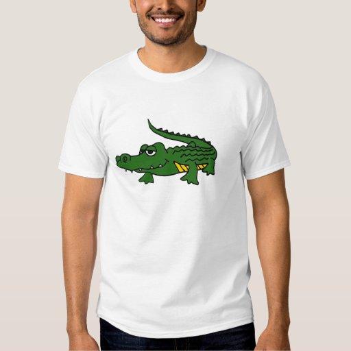 XX dibujo animado divertido del cocodrilo Poleras