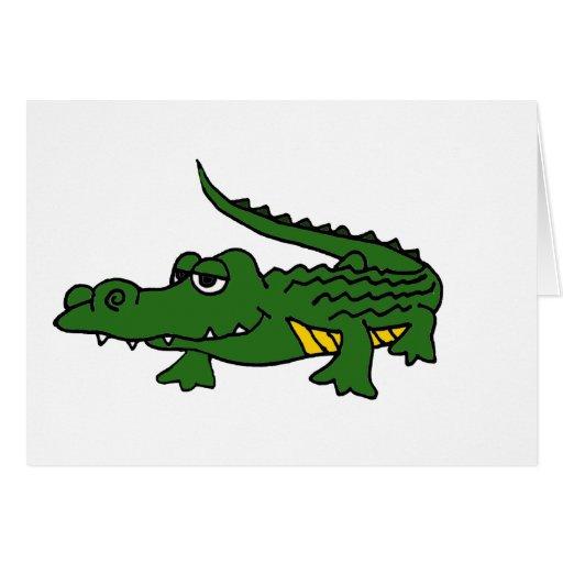 XX dibujo animado divertido del cocodrilo Tarjeta De Felicitación