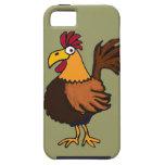 XX dibujo animado divertido del gallo iPhone 5 Case-Mate Carcasas