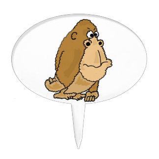 XX dibujo animado divertido del gorila Figuras De Tarta