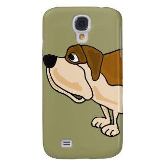 XX dibujo animado divertido del perro de St Bernar Funda Para Galaxy S4