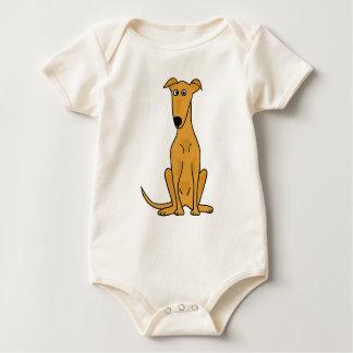 XX dibujo animado divertido del perro del galgo Mamelucos
