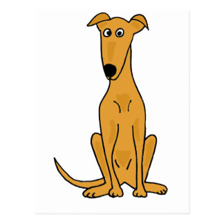 XX dibujo animado divertido del perro del galgo Postal