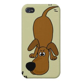 XX dibujo animado el oler Hounddog iPhone 4 Carcasas