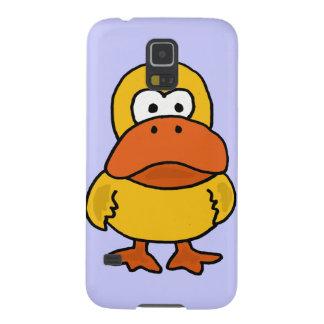 XX dibujo animado enojado divertido del pato Carcasa Para Galaxy S5