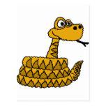 XX dibujo animado enrrollado de la serpiente de Postal
