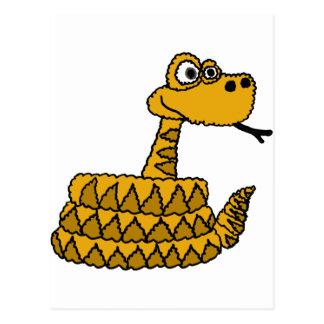 XX dibujo animado enrrollado de la serpiente de Tarjetas Postales