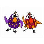 XX dibujo animado hilarante de los pájaros del Postales