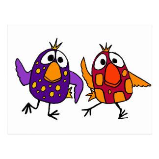 XX dibujo animado hilarante de los pájaros del Postal