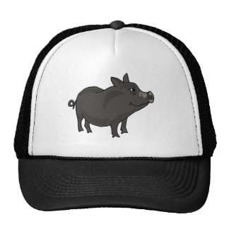 XX dibujo animado hinchado pote del cerdo Gorros Bordados