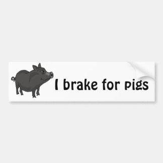 XX dibujo animado hinchado pote del cerdo Pegatina Para Auto