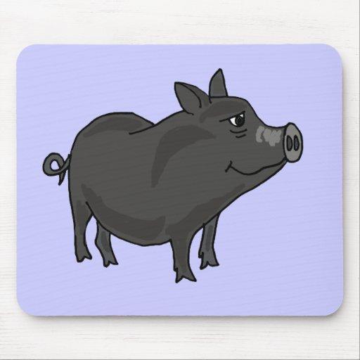 XX dibujo animado hinchado pote del cerdo Alfombrillas De Ratones
