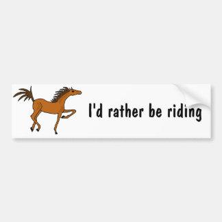 XX dibujo animado impresionante del caballo de bah Pegatina Para Auto