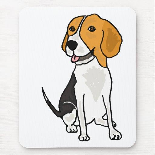 XX dibujo animado lindo del beagle Mousepads