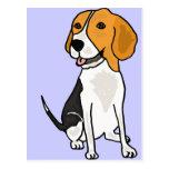 XX dibujo animado lindo del beagle Postales