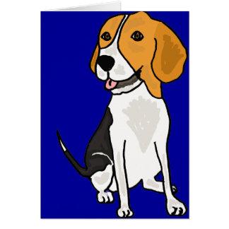 XX dibujo animado lindo del beagle Tarjeta De Felicitación