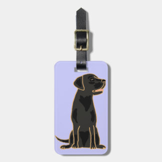 XX dibujo animado negro artístico de Labrador Etiqueta Para Maleta