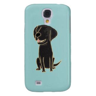 XX dibujo animado negro lindo de Labrador Funda Para Galaxy S4