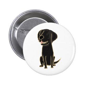 XX dibujo animado negro lindo de Labrador Pin