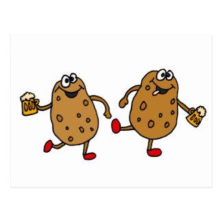 XX dibujo animado roto de las patatas Tarjetas Postales