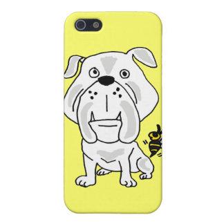 XX dibujo animado tacaño del dogo de la chaqueta a iPhone 5 Carcasa