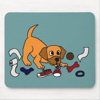 XX dibujo animado travieso divertido del perro de  Tapetes De Ratón