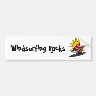 XX dibujo animado Windsurfing del pato divertido Etiqueta De Parachoque