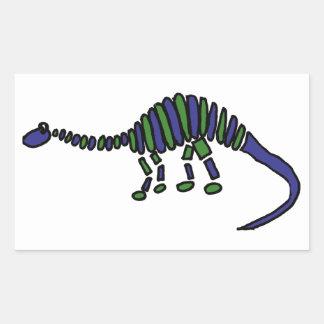 XX- Dinosaur Abstract Art Rectangular Sticker