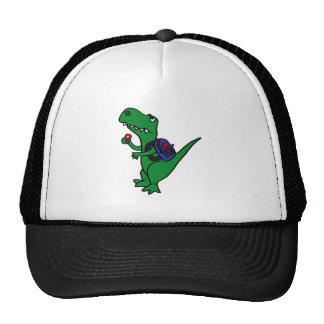 XX dinosaurio de T-rex de nuevo a dibujo animado d Gorros