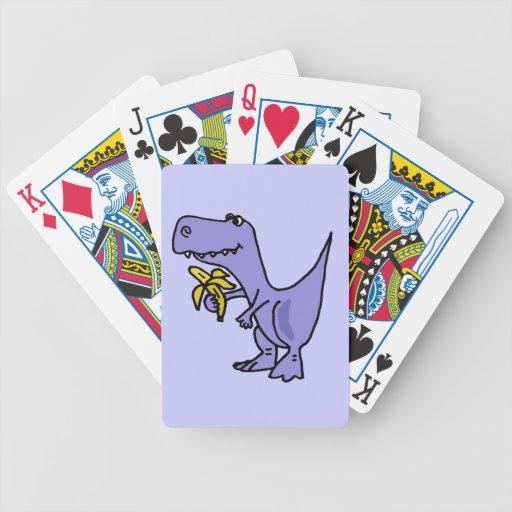 XX dinosaurio de T-Rex que come el dibujo animado  Cartas De Juego