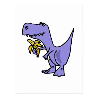 XX dinosaurio de T-Rex que come el dibujo animado Postal