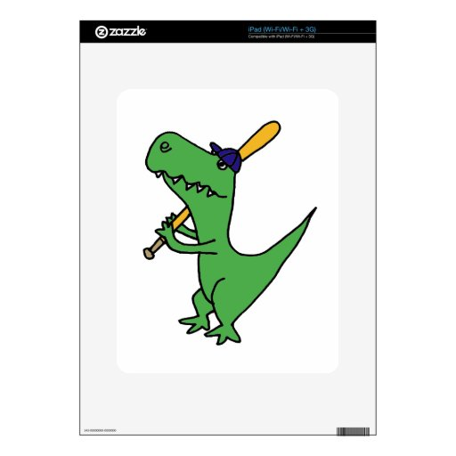XX dinosaurio de T-rex que juega a béisbol Skins Para eliPad