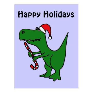 XX dinosaurio divertido de T-rex que lleva el Tarjeta Postal