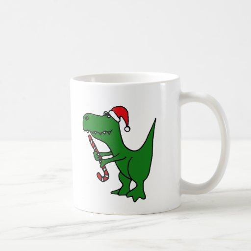 XX dinosaurio divertido de T-rex que lleva el Taza Básica Blanca