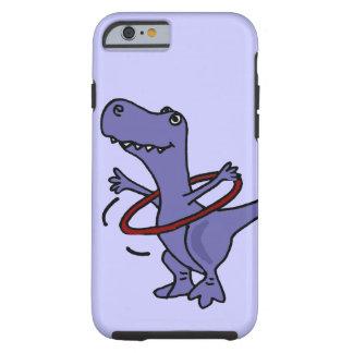 XX dinosaurio divertido de T-rex usando el aro de Funda De iPhone 6 Tough