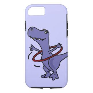 XX dinosaurio divertido de T-rex usando el aro de Funda iPhone 7