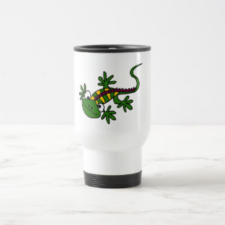 XX diseño colorido divertido de la iguana Taza De Café