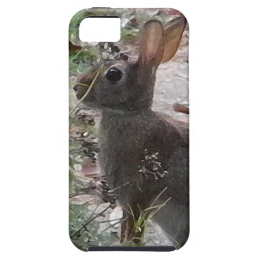 XX diseño de la fotografía del conejo de conejito iPhone 5 Case-Mate Carcasas